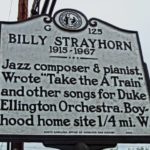 Billy Strayhorn's historic marker in Hillsborough, NC