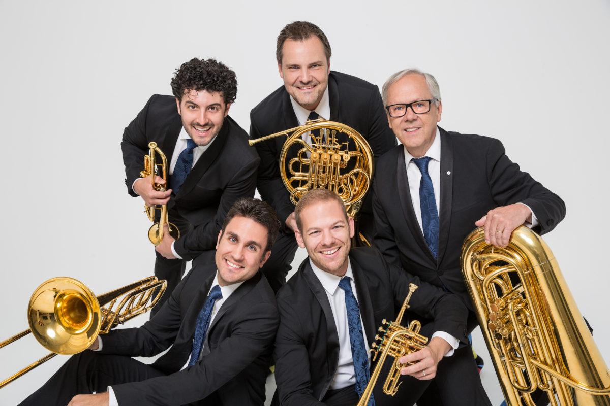 Canadian Brass at NC State LIVE on November 16, 2019. Photo by Daniel D'Ottavio.