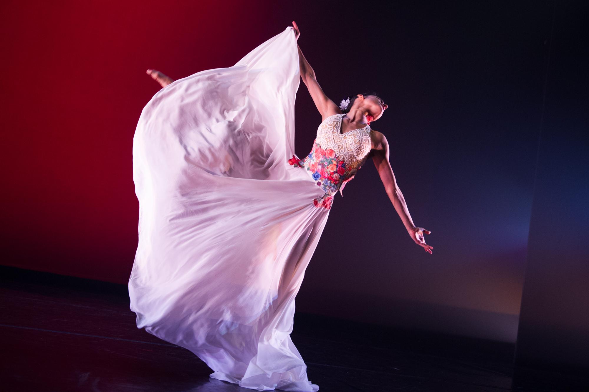Ballet Hispanico's Melissa Verdecia in Con Brazos Abiertos, Photo by Paula Lobo
