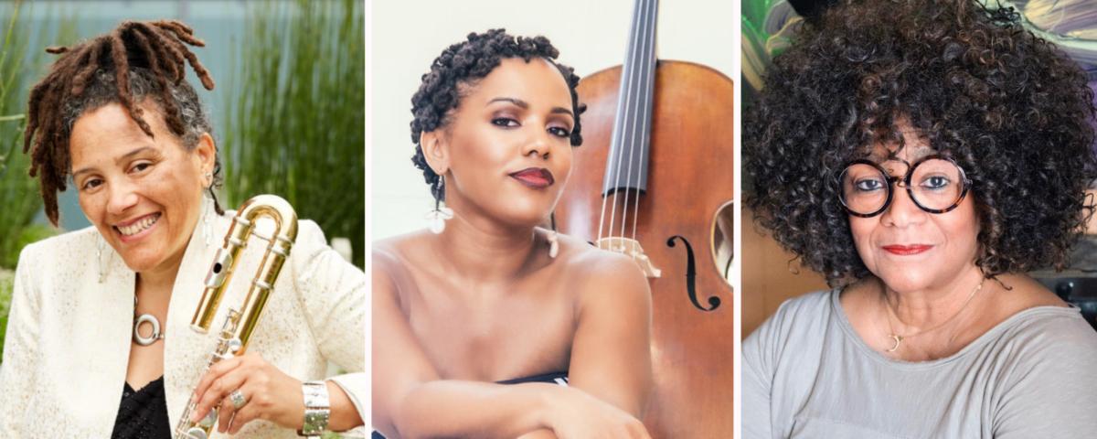 Headshots of Nicole M. Mitchell, Shana Tucker, and Jaki Shelton Green.