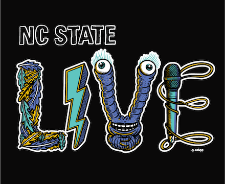 NC State LIVE 2021 illustration by George Hage